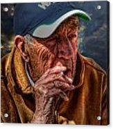 Man Smoking Acrylic Print