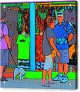 Man With Dog Acrylic Print
