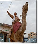 Man With His Camel Acrylic Print