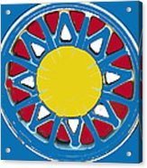 Mandala In Primary Colors Acrylic Print