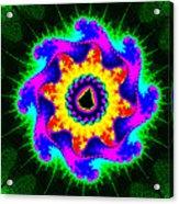 Mandala Textured - Fractal Acrylic Print