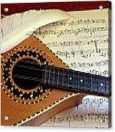 Mandolin And Partiture Acrylic Print