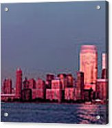 Manhattan In Pink Acrylic Print
