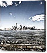 Manhattan Acrylic Print by Leslie Leda