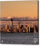 Manhattan Skyline At Dusk Acrylic Print