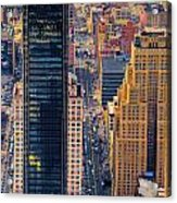 Manhattan Streets From Above Acrylic Print