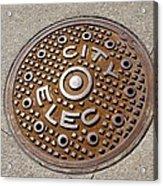 Manhole Cover In Chicago Acrylic Print