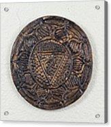 Manipuraka Navel Chakra Plate Acrylic Print
