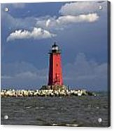 Manistique Lighthouse In Michigan's Upper Peninsula Acrylic Print