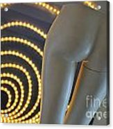 Mannequin Bottom And Light Tube In Spiral Shape Acrylic Print