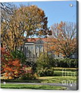 Mansion In The Woods Acrylic Print by Denise Ellis