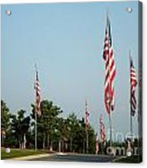 Many American Flags Acrylic Print