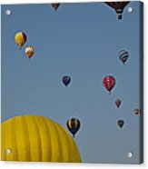Many People Lift Off In Hot Air Acrylic Print by Stacy Gold