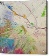 Map Abstract 2 Acrylic Print