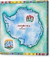 Map Of Antarctica Acrylic Print