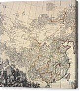 Map Of China, 1734 Acrylic Print