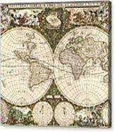 Map Of The World, 1660 Acrylic Print