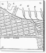 Map: Pullman, C1885 Acrylic Print