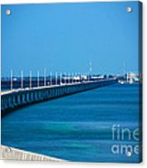 Marathon And The 7mile Bridge In The Florida Keys Acrylic Print