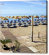 Marbella Holiday Beach Acrylic Print