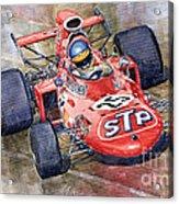 March 711 Ford Ronnie Peterson Gp Italia 1971 Acrylic Print by Yuriy  Shevchuk