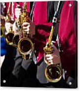 Marching Band Saxophones Cropped Acrylic Print