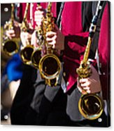 Marching Band Saxophones  Acrylic Print