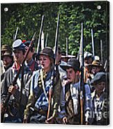 Marching In To Town Acrylic Print