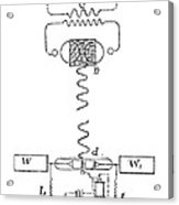 Marconi Radio Circuits, 19th Century Acrylic Print