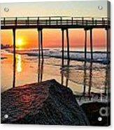 Margate Sunrise Acrylic Print by John Loreaux