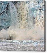 Margerie Glacier Calving Acrylic Print
