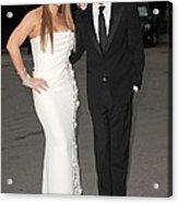 Mariah Carey Wearing A Georges Chakra Acrylic Print by Everett