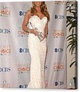 Mariah Carey Wearing A Ysa Makino Gown Acrylic Print by Everett