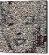 Marilyn Monroe Bubble Glass Mosaic Acrylic Print