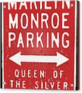 Marilyn Monroe Parking Acrylic Print