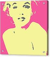 Marilyn Monroe Retro Stamp Acrylic Print by Barrington Black