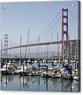 Marina At Golden Gate Acrylic Print