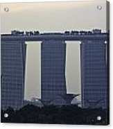 Marina Bay Sands As Seen From The Harbor Cruise Acrylic Print