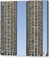 Marina City Chicago - Life In A Corn Cob Acrylic Print