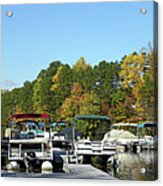 Marina In Fall Acrylic Print