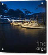 Marina With Fishing Boats Acrylic Print