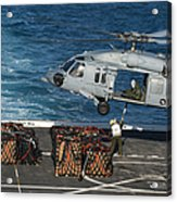 Marines Attach Cargo To An Mh-60s Sea Acrylic Print