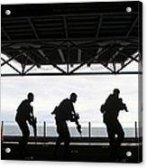 Marines Conduct Rifle Movement Drills Acrylic Print