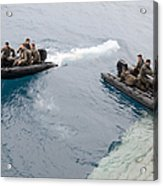 Marines Depart The Well Deck Acrylic Print