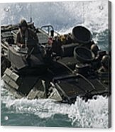 Marines Drive An Amphibious Assault Acrylic Print