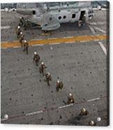Marines Embark A Ch-46e Sea Stallion Acrylic Print