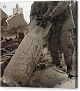 Marines Lift Up A Bomb To Determine If Acrylic Print