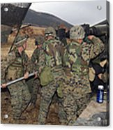 Marines Load A 98-pound High Explosive Acrylic Print
