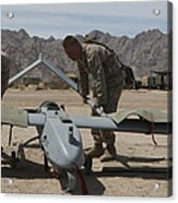 Marines Move An Rq-7 Shadow Unmanned Acrylic Print