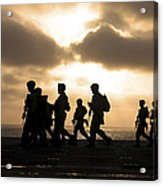 Marines Move To A Firing Line Acrylic Print